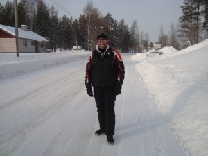 Me checking out the ice road