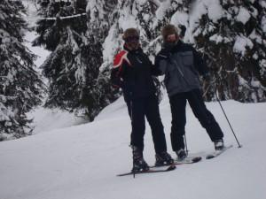 Daryl & Jason Skiing